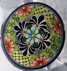 Handmade Mexican Pottery - collectible decorative hanging dinner plate mexican talavera