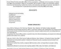 Medical Billing And Coding Resume Sample Help With Resume For Medical Coding