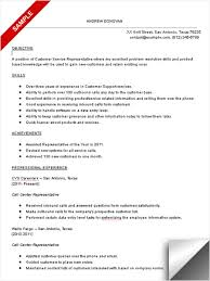 customer service call center resume resume template and