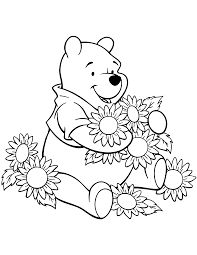 winnie the pooh coloring pages 1 coloring kids