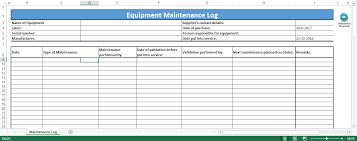 Log Excel Template Free Equipment Maintenance Log Excel Template Templates At