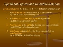 significant figures and scientific notation significant figures