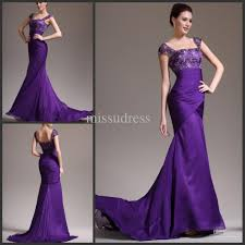discount cheap purple mermaid evening gown mother of the bride