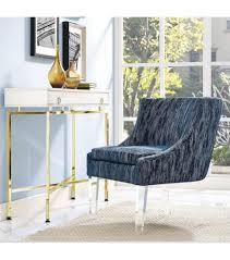 Velvet Accent Chair Textured Velvet Accent Chair Acrylic Legs
