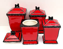 Decorative Canister Sets Kitchen 100 Red Kitchen Canister 100 Kitchen Canisters Red Amazon