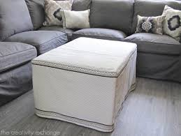 Extra Large Ottoman Slipcover by My Dish Towel Ottoman Slipcover Office Craft Room Update