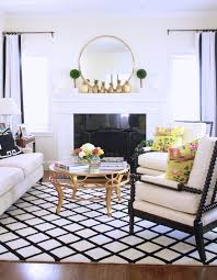 Living Room Without Rug A Bright Black And White Living Room Arianna Belle The Blog