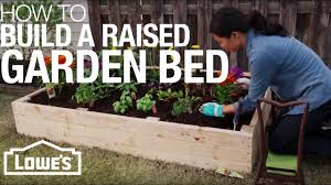Raised Gardens You Can Make by How To Build A Raised Garden Bed Youtube
