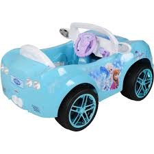 frozen power wheels sleigh disney frozen convertible car 6 volt battery powered ride on