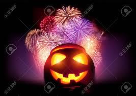 fireworks lantern fireworks party glowing o lantern pumpkin with