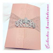 Sweet 15 Invitation Cards 50 Pink Princess Invitations Quinceañera Sweet 16 Birthday