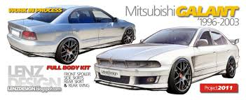 mitsubishi eterna vrg mitsubishi galant 8 tuning body kit in progress