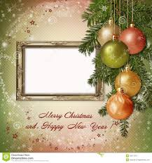christmas greeting card with frame for a family stock illustration