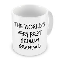 Best Mug by The Worlds Very Best Grumpy Grandad Novelty Gift Mug