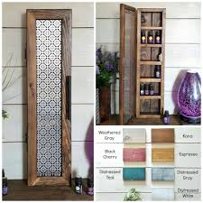 small cabinet essential oil storage nail polish storage