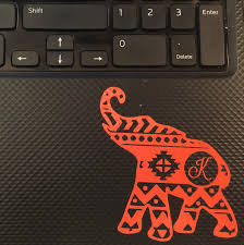 aztec elephant decal yeti decal keyboard decal personalized