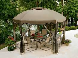 Patio Gazebos Patio Circular Patio Gazebo With Canopy Above Patio Set With
