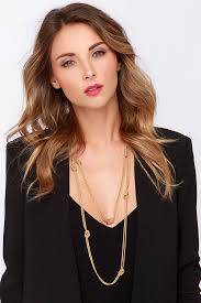 wear long necklace images Pretty gold necklace chain necklace knot necklace 13 00 jpg