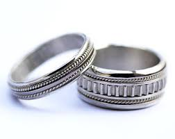 unique matching wedding bands etsy your place to buy and sell all things handmade