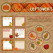 free labels for thanksgiving leftovers digital papers