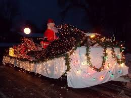 central point christmas lights parade rogue snowmobilers