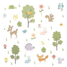 amazon roommates rmk scs woodland animals peel stick amazon roommates rmk scs woodland animals peel stick wall decals home improvement