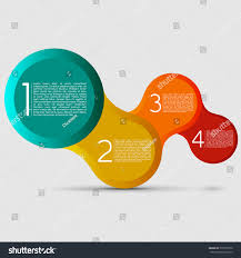 connecting big beveled circles modern design stock vector