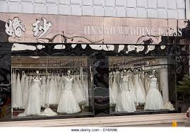 wedding dress shops london wedding dresses display stock photos wedding dresses display