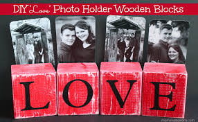 diy u201clove u201d photo holder wooden blocks lowescreator