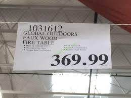 global outdoors fire table global outdoors faux wood fire table costcochaser