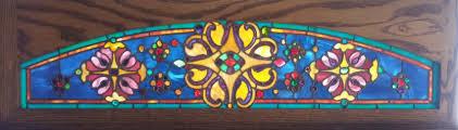 antique stained glass transom window fid15077 45 1 2 u201d x 12 3 8 u201d antique american stained glass