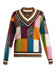 sweater house patchwork knit cricket sweater house of matchesfashion