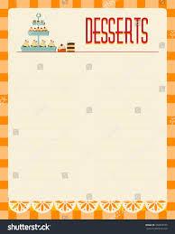 free blank menu template dessert menu template