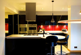 red black and white kitchen theme outofhome
