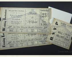 Movie Ticket Wedding Invitations Vintage Ticket Wedding Invitation Suite Cinema Film Theater