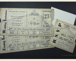ticket wedding invitations vintage ticket wedding invitation suite cinema theater