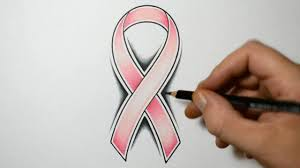 how to draw a cancer ribbon tattoo design style youtube