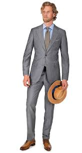 light gray suit brown shoes light grey wool mohair suit