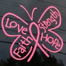 breast cancer ribbon butterfly vinyl decal stickers a1 gd 10 417