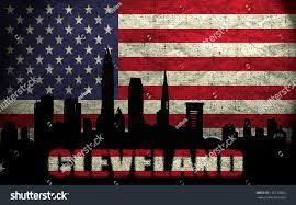Sacramento City Flag View Cleveland City On Grunge American Stock Photo 135179063