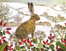 vanessa bowman hare in the snow charity christmas cards pack of 5