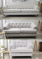Chesterfield Sofa Fabric Fabric Chesterfield Sofa Luxurious Sofas Ebay