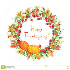 thanksgiving leaves clipart thanksgiving wreath pumpkins berries autumn leaves watercolor