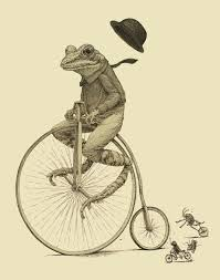 Unicycle Meme - penny farthing s unicycling frog dat boi know your meme