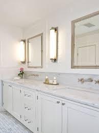 Restoration Hardware Bathroom Cabinets Urban Farmhouse Guest Bath With Pure White Caesarstone Vanity