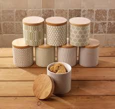 green cream kitchen storage jars cream e l tea coffee sugar