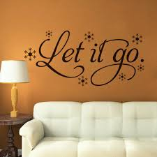 online get cheap wall quotes nursery aliexpress com alibaba group 8370 let it go quote stickers vinyl decal wall stickers for living room bedroom 3d