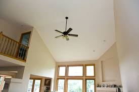 ceiling fans for sloped ceilings ceiling fan vaulted peak for height ideas sloped fans angled at with