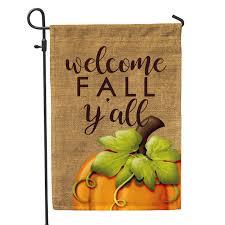 Fall Garden Flag Welcome Fall Y U0027all Home U0026 Garden Flag U2013 Second East Llc