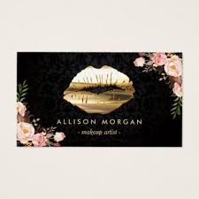 business cards for makeup artist new version gold makeup